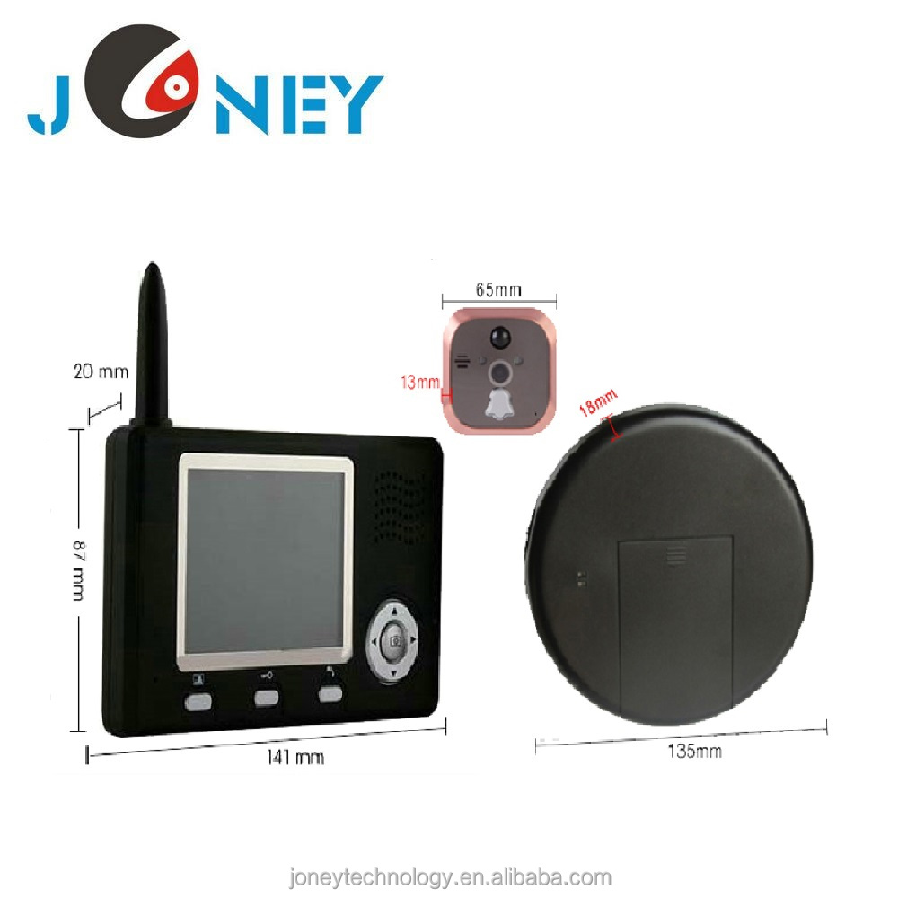 3.5 Inch peephole wireless video door phone intercom system with inner monitor