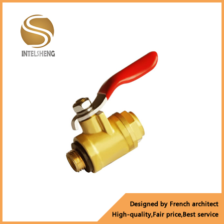 Full DN Size Ball Valve Brass Float Ball Valve With Nipple And Female Male Thread
