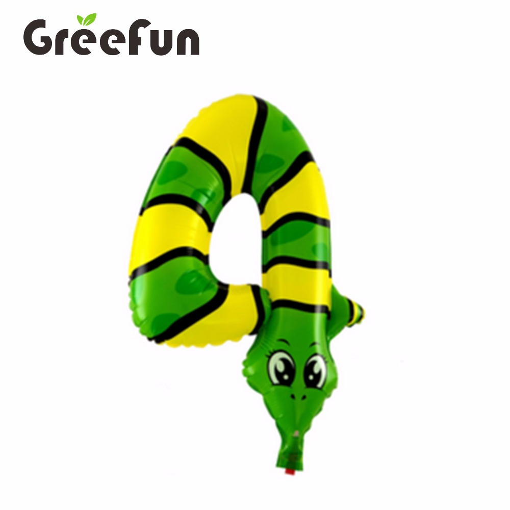4 Digital Number Snake Shape 2016 Animal Designs Wholesale Balloons Hot Selling Inflatable Helium Balloon For House Decoration