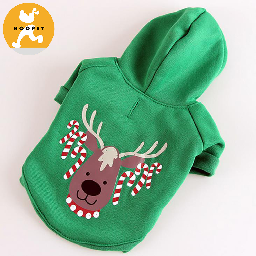 dog clothes custom with led christmas light, light up dog clothes print with Christmas tree reindeer Santa