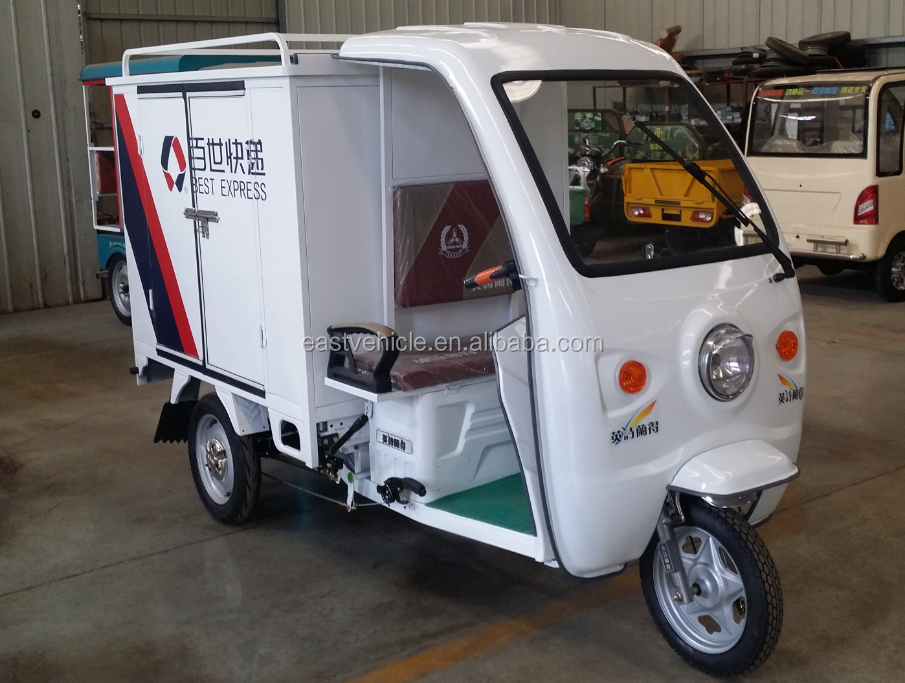 Closed Body Food Delivery Electric Tricycle/Electric Cargo Tricycle with Cabin
