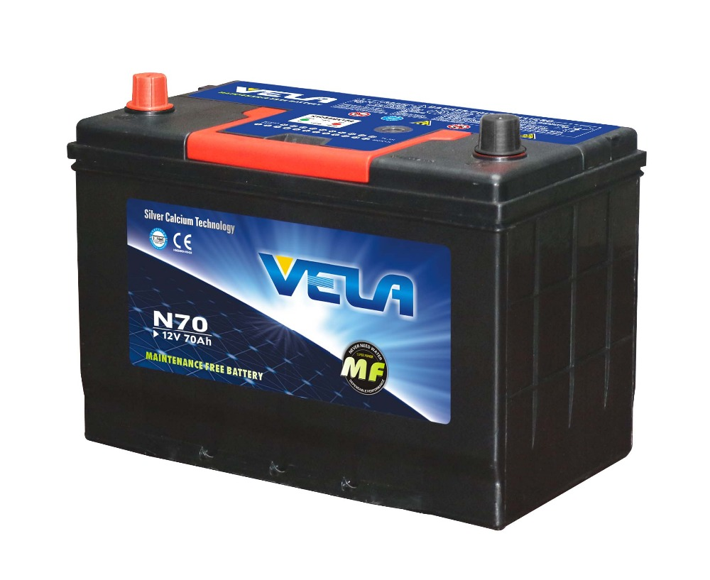JAPAN STANDARDS N70 MF auto battery 70ah