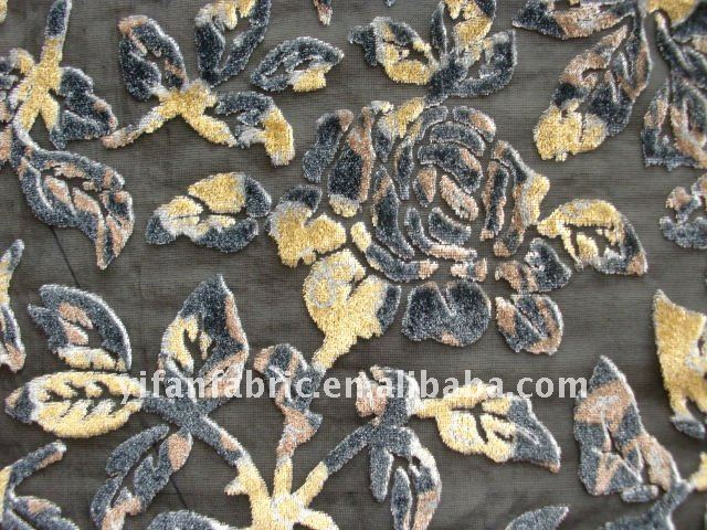viscose/silk burnout velvet fabric