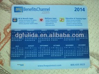 2014 calendar mouse pad for promotional gift
