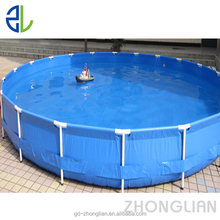 Fish farming tank with foldable frame for fish and shrimp pond