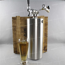 2016 new style logo etching Stainless Mini 4L Brew ball lock draft beer keg for taproom and microbrewery