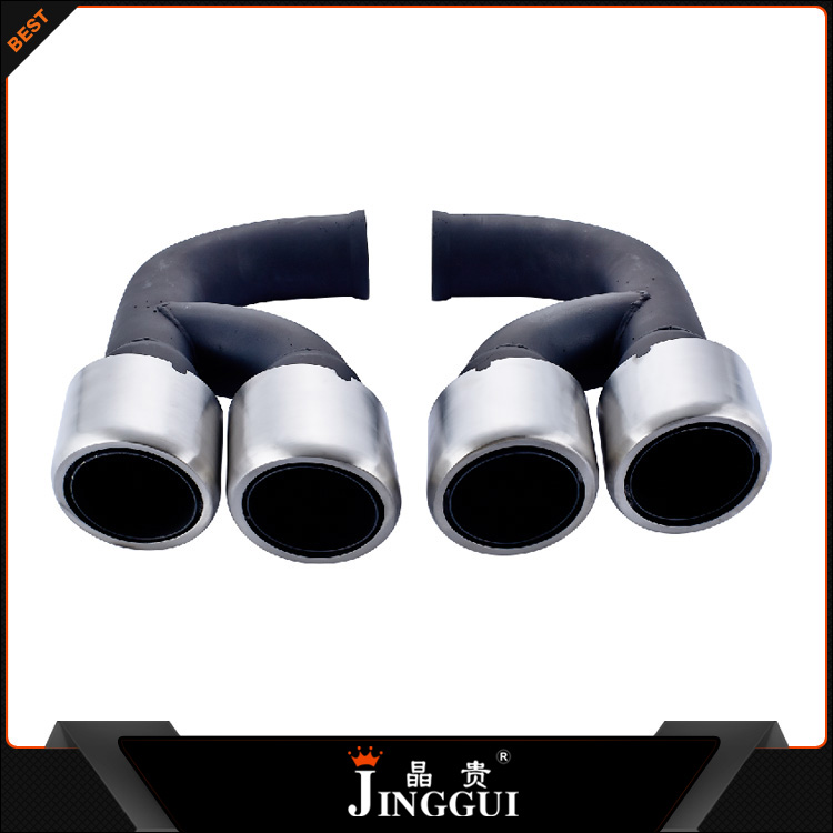 Black polish Brush exhaust tip Car Muffler Tail Tip V6 Exhaust Pipe Tip for Porsche Cayenne V6 2011