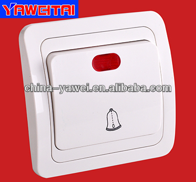 russia style 1 gang door bell wall switch with indicator/wall switch with light