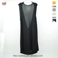 Black Halter Dress Ladies Simple Fashion Sexy Sweater Girls Party Dresses