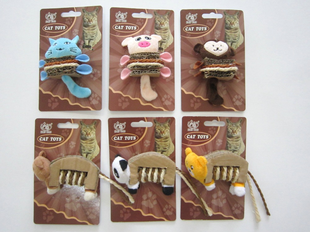 Lanbiao custom plush toys with corrugated paper for cat pet toys supplies C14-43