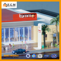 Architectural model with cars, ho scale building model, architectural model supplier