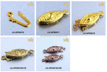 china wholesale jewelry accessories brass fish hook clasp for pearl necklaces making jewelry findings