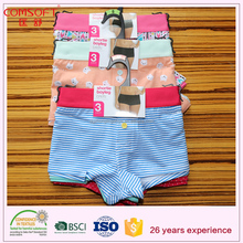 cotton women boxer panty/ lady underwear with polyester waistband