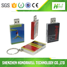 Bulk Mini Plastic Book Shape USB Stick Wholesale With Customized Logo