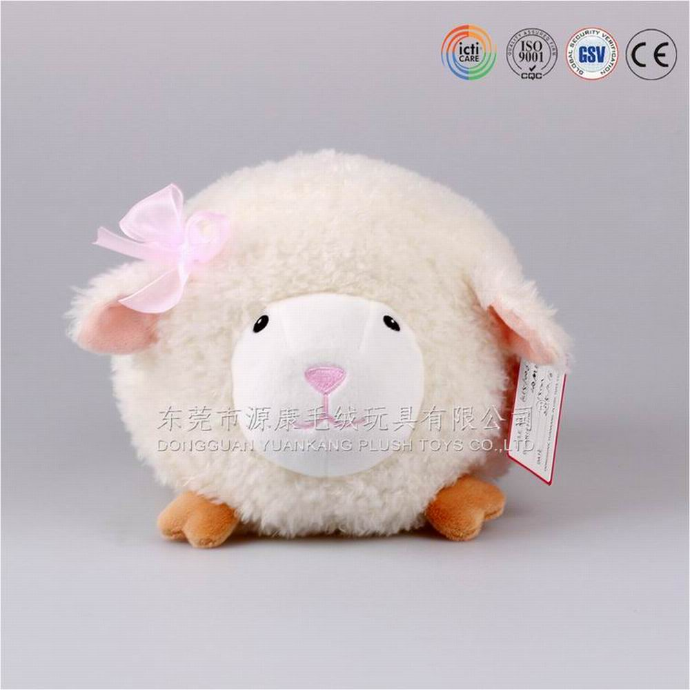 17cm ODM product Q version plush <strong>animal</strong> series soft stuffed cute sheep shaped pillow