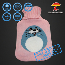 Sandy with colorful dots knitted cover with hot water bag