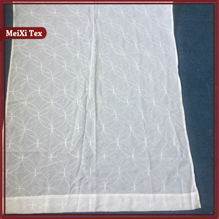 Round design european lace kitchen curtains ready made,window curtains from china