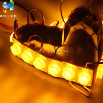 DC12V 585nm Yellow Color 3535 High Power 2W LED Module with Len