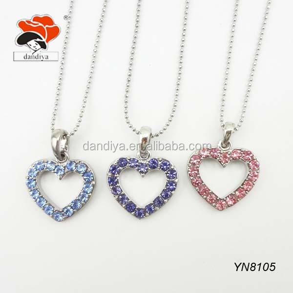fashion loving jewelry delicate hollow rhinestone diamante glowing heart necklace