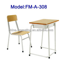 FM-A-308 high school furniture classroom chair with desk