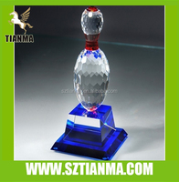 2014 novelty k9 crystal bowling award