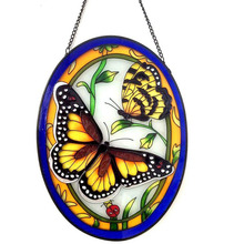 window art decoration butterfly crystal stain glass hanging suncatcher