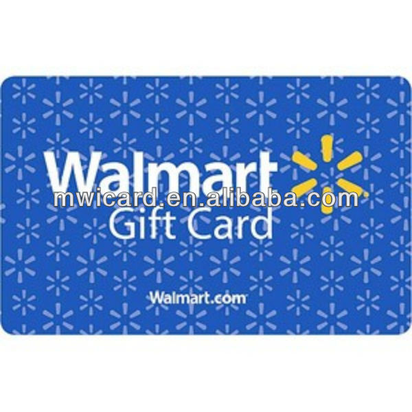 Free design service plastic Vip number pvc card/Walmart gift card