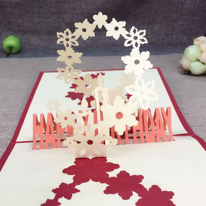 1pcs Sample Fireworks Laser Cut 3D Handmade Pop Up Greeting Cards Postcard Kraft Kirigami Free Envelope Birthday Supplies Gifts