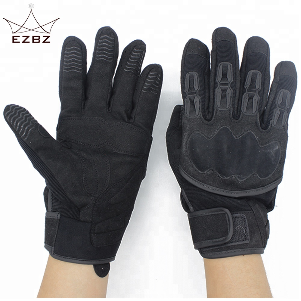 Protective <strong>Shock</strong> Resistant Leather Motorbike Sports Gloves Perfect for Outdoor Camping Cycling