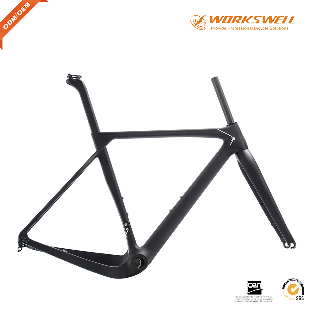 Newest Gravel Bike Frame with Disc Brake Fat Mount, Bicycle Frame Bike,Gravel Bike Frame