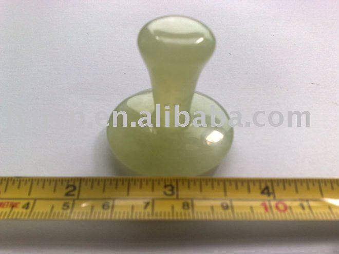 mushroom style facial massager, thermal jade