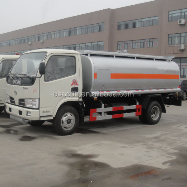 Low price Dongfeng 3-5CBM oil truck/fuel tanker/fuel oil transport truck