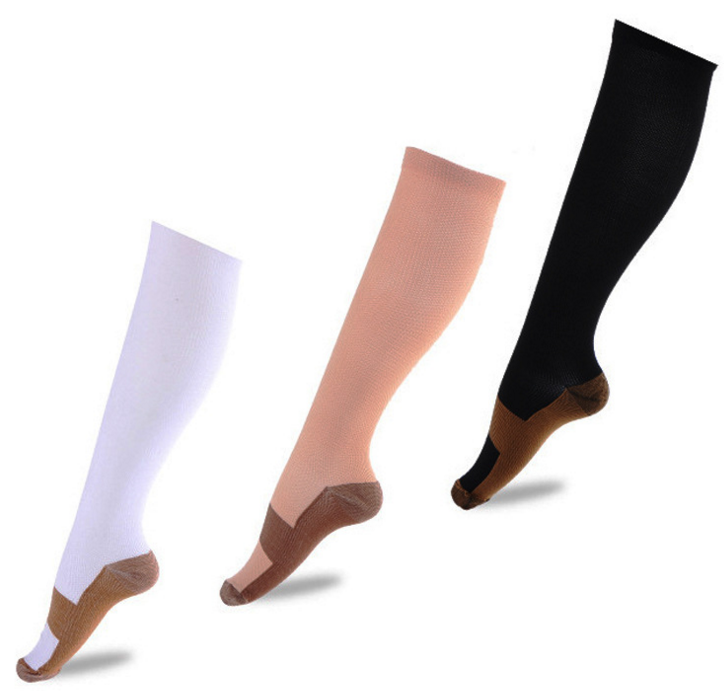 Knee high Socks Anti-fatigue Copper infused compression Socks