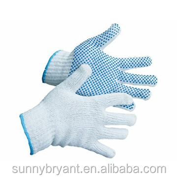 Hand Protection Classic Knitted Gardening PVC Dots Cotton Gloves