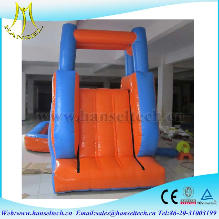 Hansel theme park equipment for sale fair attraction outdoor games inflatable slide for kids
