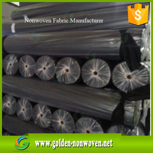 150cm width light green & black pp non-woven cloth fabric roll by our 9 nonwoven machine