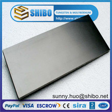 High quality pure tungsten plate/High purtiy 99.95% tungsten sheet/High density tungsten plate price
