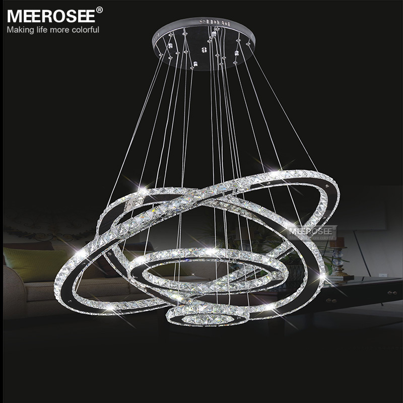 Meerosee factory price led crystal light diamond ring led pendant md8825 3 md8825as04 md8825as05 aloadofball Choice Image