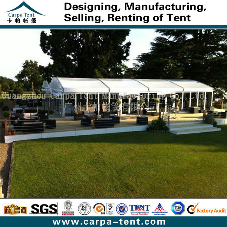 Guangzhou Tent Wholesale High Peak 10mx21m Marquee Tent With Certains