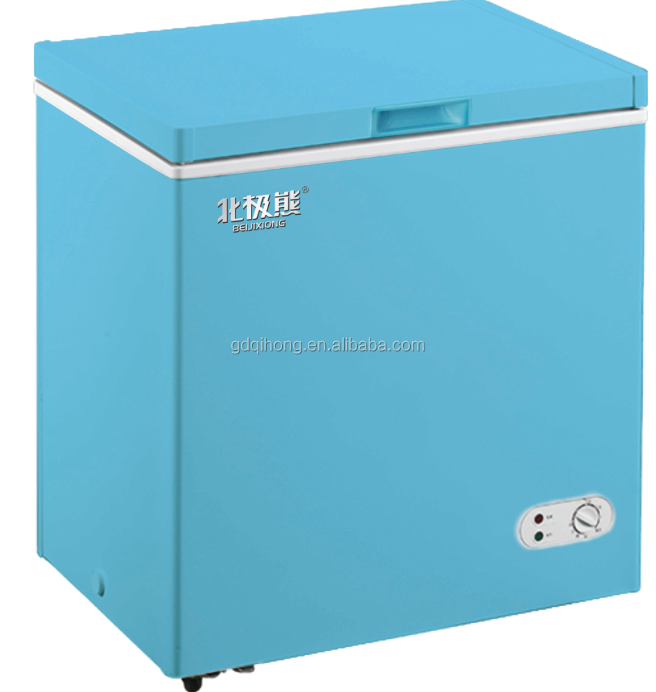 Bd Bc 158 Blue Color Chest Freezer Top Open Door Deep