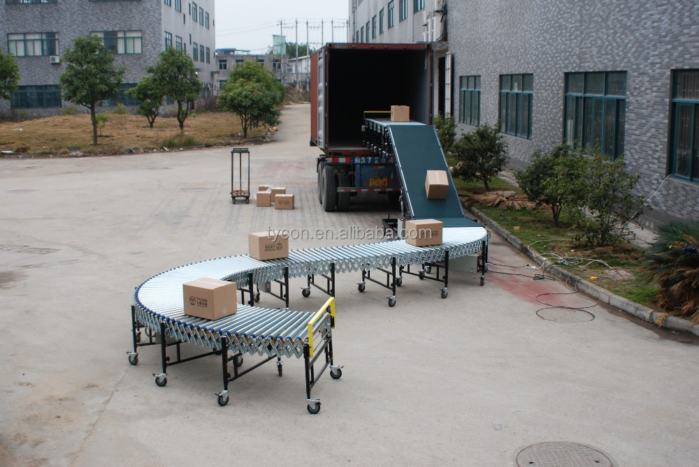 vehicle loading conveyor, container unloading conveyor