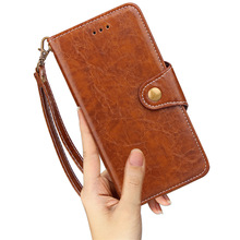 Mobile accessories smart wallet 2017 landyard vintage design folding stand leather wallet cover tpu case for iPhone X