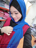 chiffon shawl hijab 2014fashion baju hijab with duble color with doble face,butterfly design
