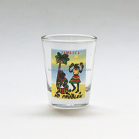 2OZ shot glass cup with decal