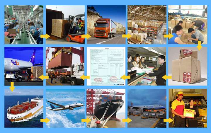 20ft cargo container shipping service sea freight service from China to USA