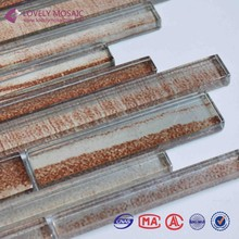 Red crystal strip glass 5mm mini mosaic tiles