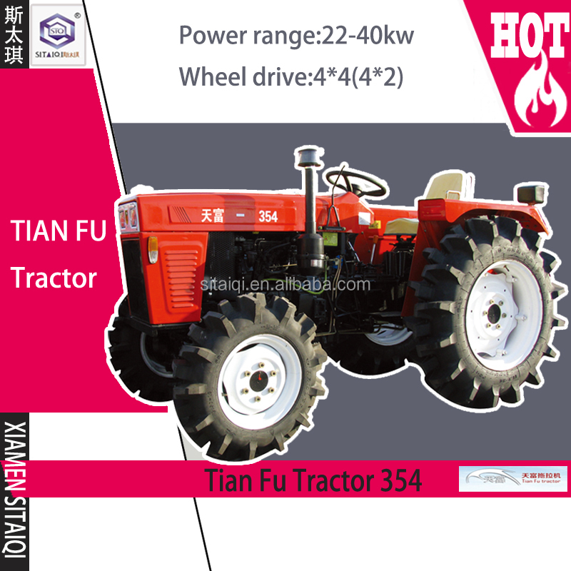 Weifang Tianfu 4WD/2WD 354 series brand new electrical farm tractor for sale 20-40kw
