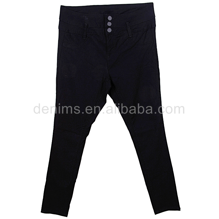 EP590531-D1 black ladies pantalones trousers soft skinny spandex pants