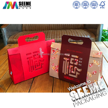 factory custom wedding cake boxes with handle/sweet boxes for cake with PVC window