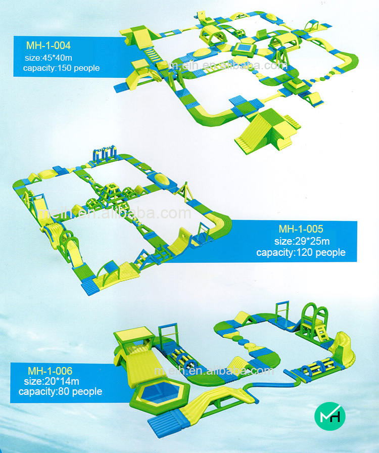 hot sale giant commercial float water park inflatable for kids and adults